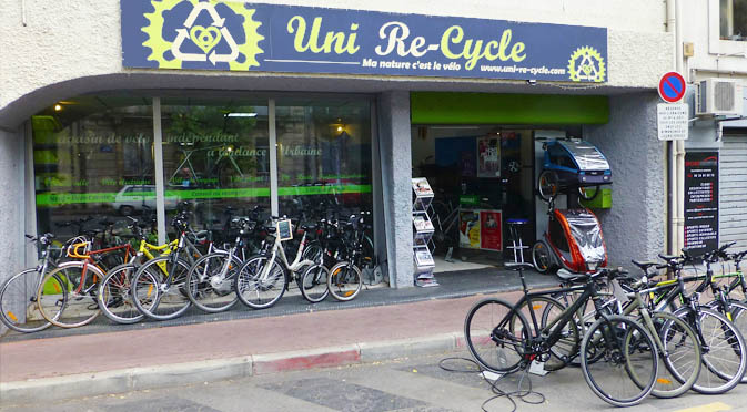 uni re cycle uni recycle montpellier magasin de v lo boutique cycles v lo tout terrain. Black Bedroom Furniture Sets. Home Design Ideas